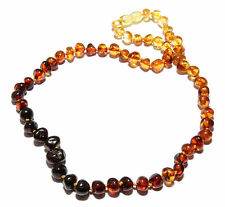 Genuine Baltic Amber Beads Necklace for Adult Rainbow 43 - 45 cm