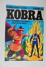 Comic Heft Kobra  Nr.25 (1976) eingetütet & geboardet Zustand 2