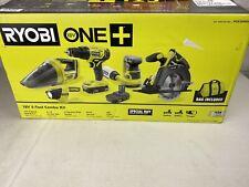 New Open Box RYOBI 18V 5 Tool Combo Kit  Includes 2 Batteries and Bag PCK300KSB