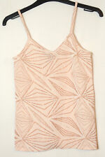 POWDER PINK GLITTER STRETCH TOP BLOUSE VEST CAMI SIZE 8 ATMOSPHERE PARTY