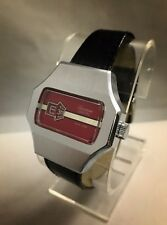 MINT RETRO VINTAGE 70's Lucerne Digital Mechanical Jump Hour Wind Watch SERVICED