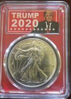 2020 PCGS MS 70 American Silver Eagle in Trump 2020 Label