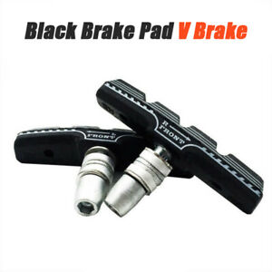 1 Pair Durable Mountain Bike Brake Pads V-Brake Holder Shoes Rubber Block 70'KN