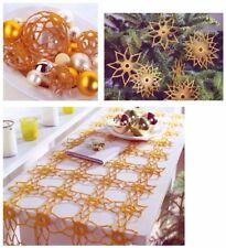 Crochet Pattern per albero di Natale palline, stelle e Tabella Runner 1101/05 a 11