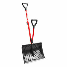 Snow Joe Strain-Reducing Snow Shovel | Red | 18-Inch | Spring Assisted Handle