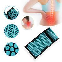 Massage Acupressure Mat + Pillow Yoga Shakti Sit Lying Cut Pain Stress Soreness