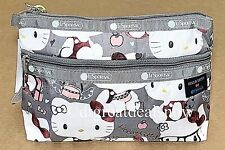 NEW LeSportsac Hello Kitty Cosmetic Clutch Limited Gray 7105 G630