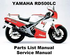 YAMAHA RD500 Service Repair Manual Workshop Parts List PDF on CD-R RZ500 RZ 500