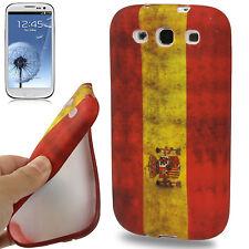 TPU Case Backcase Hülle Retro Flagge Spanien für Samsung Galaxy S III / i9300