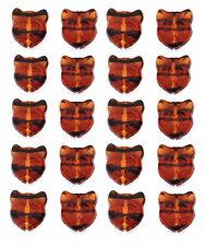 20 Adorable Tortoise & Black Cat Face Czech Glass Beads 13MM