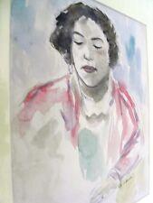 """BERTHOMME ST-ANDRE (1905-1977) Période Algérienne 1925 """"Le chemisier rose"""" Aquar"""