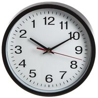 Black And White Backwards Round Face Wall Clock. - Novelty Clock Reverse Anti