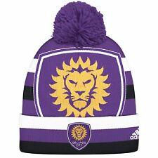 Orlando City Hat MLS Pom Knit Winter Cuffed Beanie Adidas Soccer Club Purple d726a6051ba8a