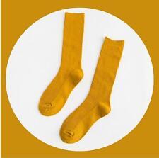 堆堆襪女士純棉百搭文藝範森系復古雙針秋冬純色豎條