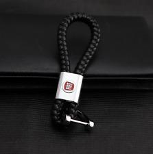 Generic Car Keyring Keychain Key Holder Logo Leather for Fiat ABARTH
