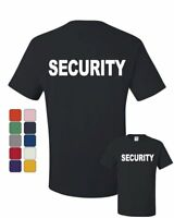 Security T-Shirt Bouncer Police Event Staff Uniform Guard Tee Shirt