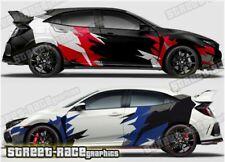 Honda Civic Rally 011 racing motorsport graphics stickers decals vinyl