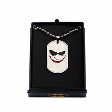 DC Comics Smiling Joker Stainless Steel Dog Tag Necklace