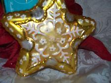 Christopher Radko My PEO Star Glass Gold Christmas Ornament RARE