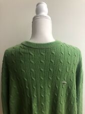 Lacoste Green sweater cable knit Men's Size XL  Crewneck Sweater