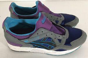 RARE Asics Gel Lyte 5 V Gray Black Purple Sz 12 H312N Men's Running Shoes Multi