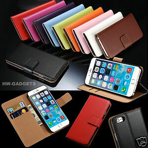 Genuine Real Leather Slim Flip Wallet Case Cover For Apple iPhone SE