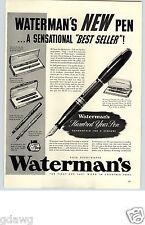 1940 PAPER AD ARTICLE Pen Waterman's Hundred Year Vacuum-Fill Full-Fill Patricia