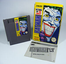 Batman return of the Joker para Nintendo NES módulo con instrucciones y embalaje original
