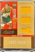 KEVIN DURANT 2010-11 ROOKIE GEAR GAME WORN PATCH SEATTLE SUPERSONICS 018/100