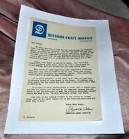 VTG 1940'S DENNISON CRAFTS CUST SERV LETTER RE LACK OF CREPE PAPER DUE TO WWII