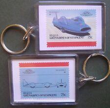 1964 BLUEBIRD II Proteus CN7 (Donald Campbell) Car Stamp Keyring (Auto 100)