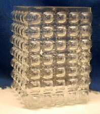 "Large heavy, clear bubbled glass Vase   8"" tall x 6"" wide"