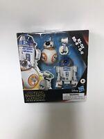 "Star Wars-Rise of SkyWalker-Galaxy Of Adventures R2-D2, BB-8, D-0,5"" Droids -NEW"