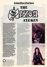 Saxon Graham Oliver & Paul Quinn Guitarist Interview Clipping