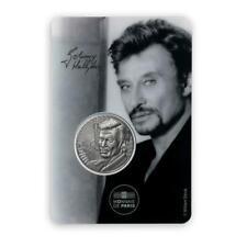 Blister Johnny Hallyday Blister Médaille Portrait Monnaie de Paris 4317 ex RARE