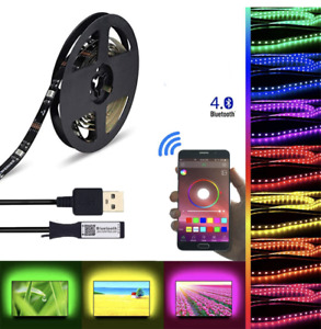 1/2/3/4m LED Strip Lights 5050 RGB Multi Colour USB TV PC Back Mood Lighting