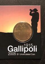 "2005 Gallipoli 90th Anniversary $1 coin UNC - ""S"" Mintmark"