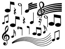 MUSIC NOTES DIY Vinyl Wall Art Decal Words Lettering Decor Home Room Studio