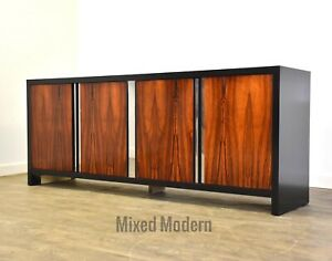 Rosewood and Chrome Dresser