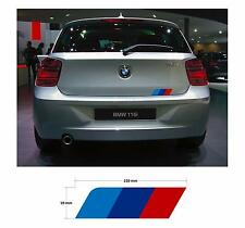 Trasera M Colores coche decal Gráfica A Rayas Para Bmw Serie 1 F20 F21 E81