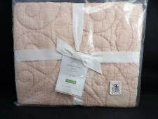 Pottery Barn Washed Cotton Quilted Standard Sham Rose #4659