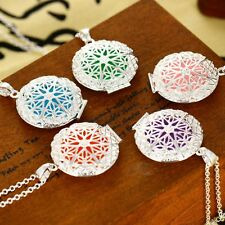 Dull 5Pads Locket Necklace Fragrance Aromatherapy Essential Oil Diffuser Pendant