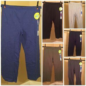 Hanes women's Petite soft sweatpant open bottom Size S/M/L color options
