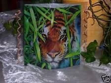 Tischlicht/Windlicht Tigerkopf/ Tiger- Afrika