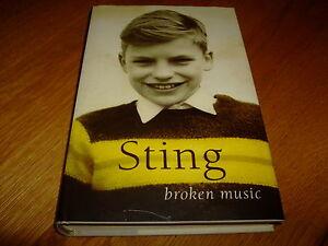 STING-BROKEN MUSIC-SIGNED-2003-HB-NF/F-SIMON & SCHUSTER-RARE