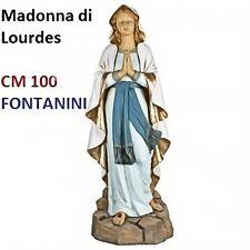 Statua religiosa FONTANINI madonna di lourdes cm 100 in resina arte sacra