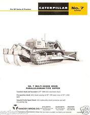 Equipment Brochure - Caterpillar - 7 - Ripper for D7 - 1966 (E1005)