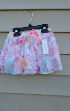 WONDREKIDS GIRLS SKIRT 24 MONTHS MULTI-COLOR FLORAL/ BUTTERFLY POLYESTER