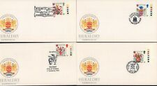 (47729) GB FDC x4 Heraldry 1984