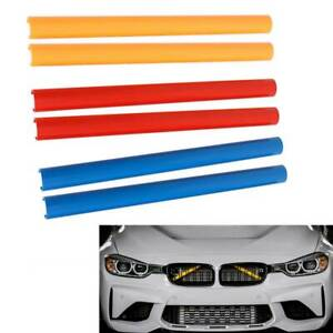 Pair Front Grille Trim Strips For BMW F30 F32 F10 f11 F02 3 4 5 7 Series Sport